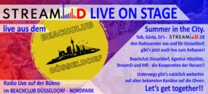 StreamD Live vom Beachclub Düsseldorf im Nordpark